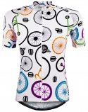 Camisa de Ciclismo Feminina Marcio May Funny Colorful Minimalist