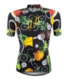 Camisa de Ciclismo Feminina Marcio May Funny Tropical